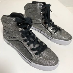 G by Guess womens sparkle high top sneakers size 8